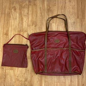 Gucci Vintage Striped Tote Bag